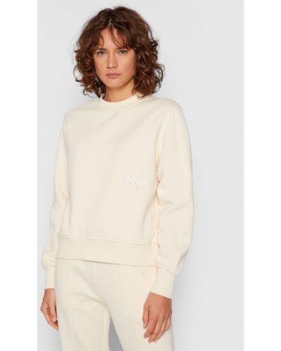 Beżowa bluza Calvin Klein Jeans