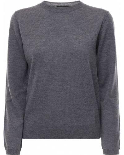 Шерстяной серый свитер с воротником с манжетами A.p.c.