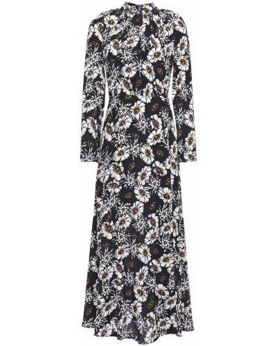 Платье миди с принтом - черное Markus Lupfer