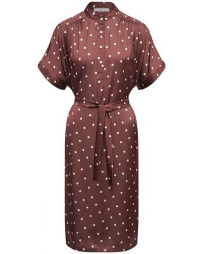 Платье из полиэстера - коричневое Tak.ori