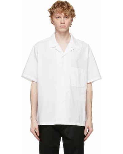 Biała koszula bawełniana krótki rękaw Nanamica