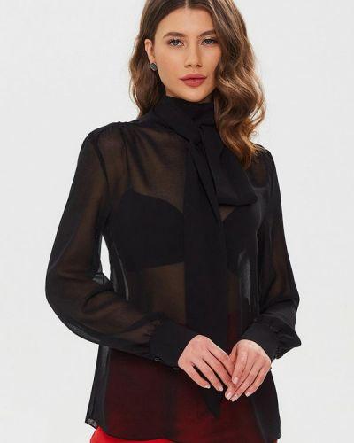 Черная блузка с бантом Moru