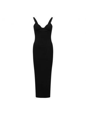 Платье из вискозы - черное Magda Butrym