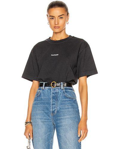 Черная футболка с воротником винтажная Acne Studios