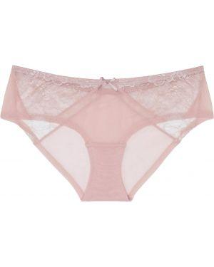 Хлопковые розовые трусы прозрачные Bonprix