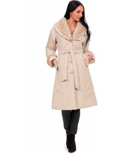 Пальто с поясом на синтепоне с воротником с карманами Lacywear