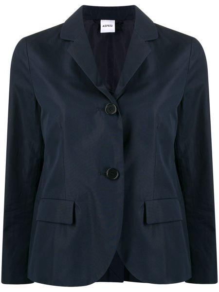 Пиджак с накладными карманами синий Aspesi