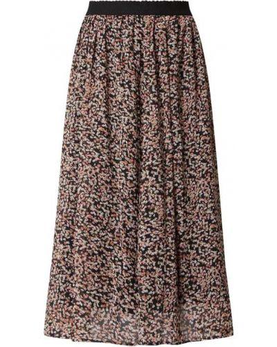 Różowa spódnica midi rozkloszowana z szyfonu Soyaconcept