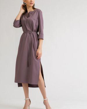 Летнее платье миди с V-образным вырезом Emka