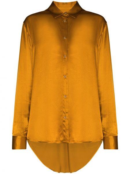 Желтая рубашка с длинными рукавами с манжетами Asceno