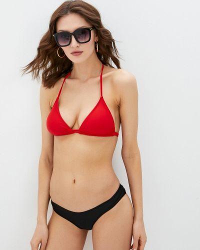 Красный купальник с воротом халтер Fadas