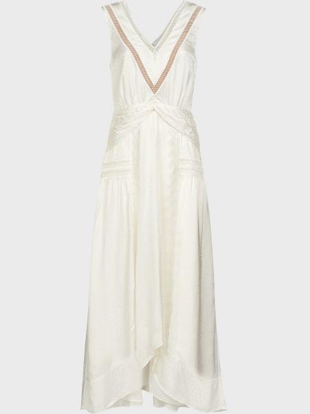 Белое платье из вискозы Self-portrait