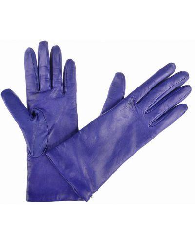 Фиолетовые кожаные перчатки Mor`a
