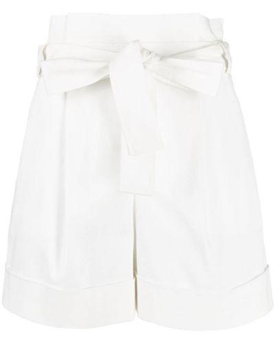 Хлопковые белые шорты на молнии Boutique Moschino