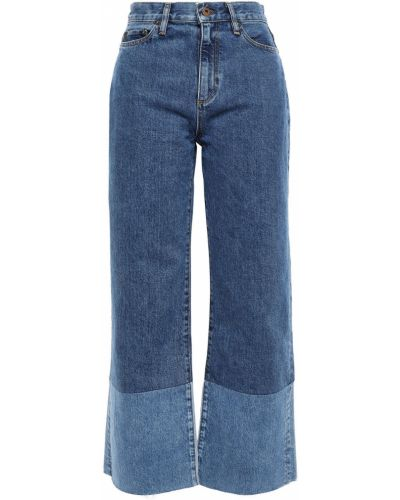 Хлопковые синие широкие джинсы свободного кроя Simon Miller