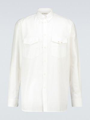 Bawełna prosto biały koszula oxford z kieszeniami Givenchy