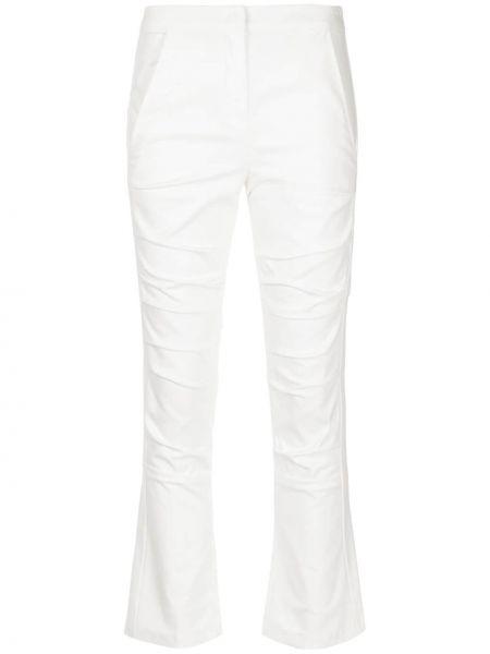 Классические хлопковые белые приталенные классические брюки Taylor