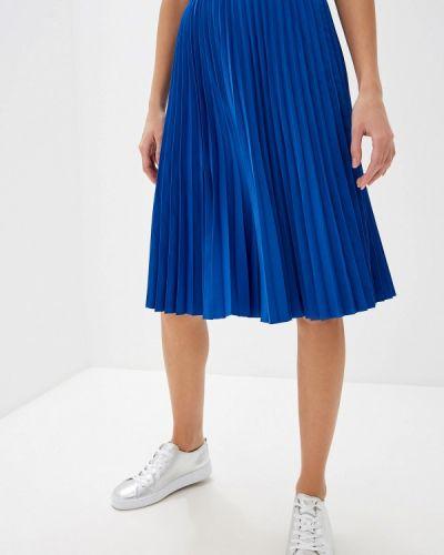 Плиссированная юбка синяя Max&co