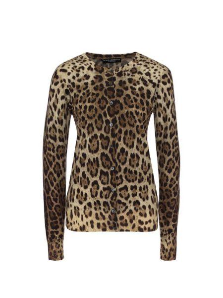 Кардиган черный леопардовый Dolce & Gabbana