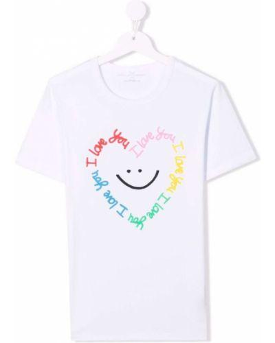 Biała t-shirt bawełniana Stella Mccartney Kids