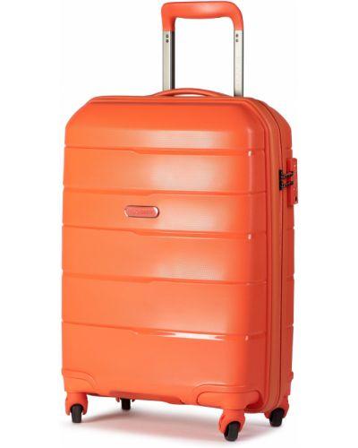 Pomarańczowa walizka Puccini
