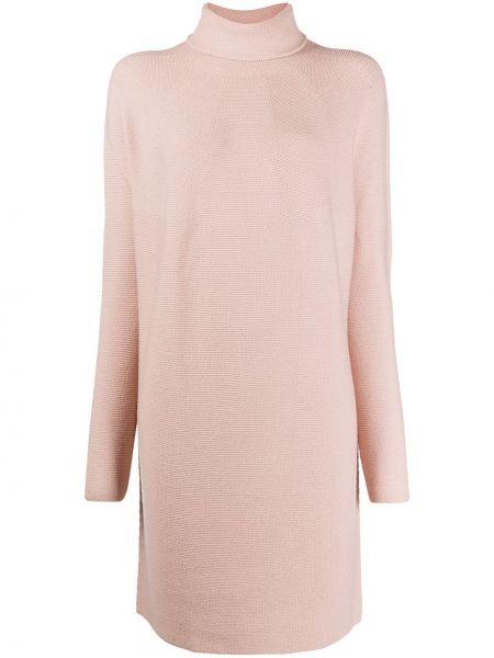 С рукавами шерстяное розовое платье трапеция Christian Wijnants