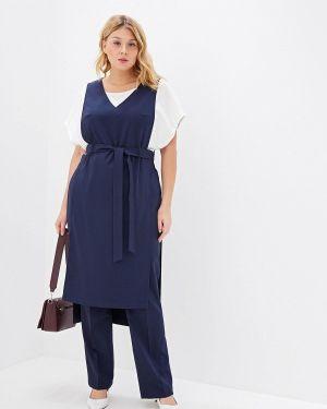 Брючный костюм синий авантюра Plus Size Fashion