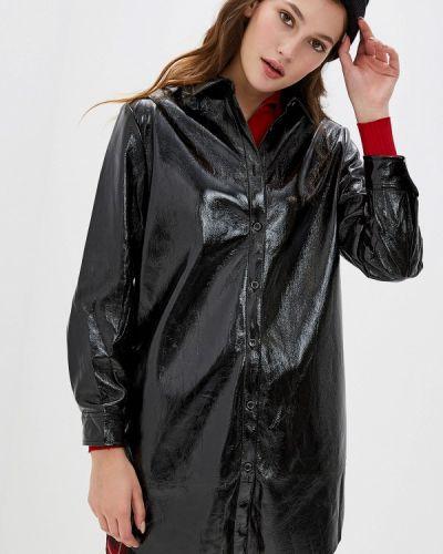Кожаная куртка осенняя черная You&you
