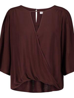 Fioletowa bluzka z wiskozy Velvet