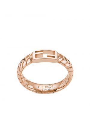 Кольцо - розовое Fendi