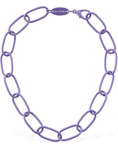 Fioletowy naszyjnik łańcuch Federica Tosi