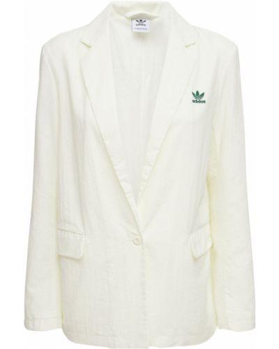 Блейзер в полоску - белый Adidas Originals