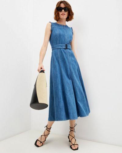 Синее платье осеннее Akris Punto