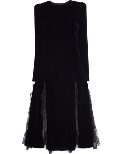 Платье миди с цветочным принтом со вставками Ermanno Scervino