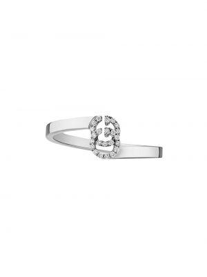 Pierścień metal biały Gucci