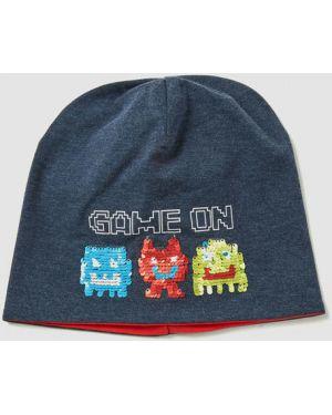 Темно-синяя шапка с пайетками Ostin