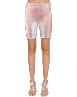 Розовые шорты стрейч байкерские Area
