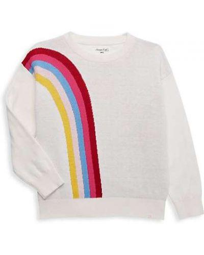 Prążkowany biały długi sweter bawełniany Sovereign Code