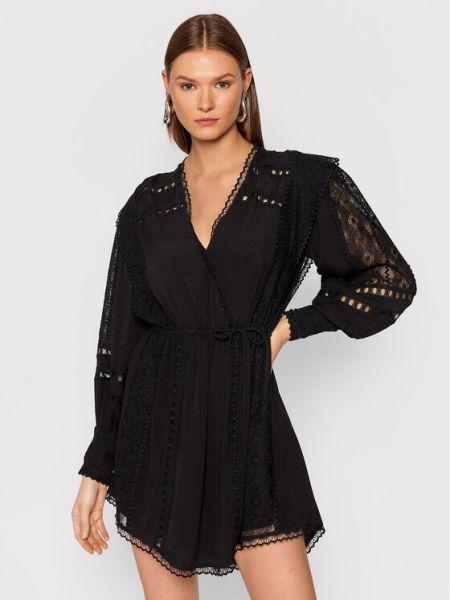 Czarna sukienka koktajlowa Iro