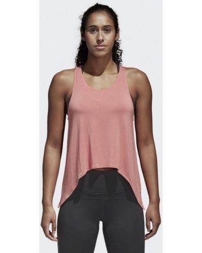 Розовая майка спортивная Adidas