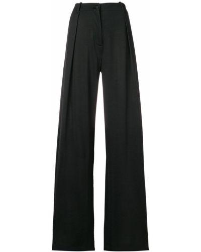 Классические брюки серые расклешенные Tomas Maier