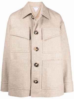 Beżowy płaszcz bawełniany Bottega Veneta