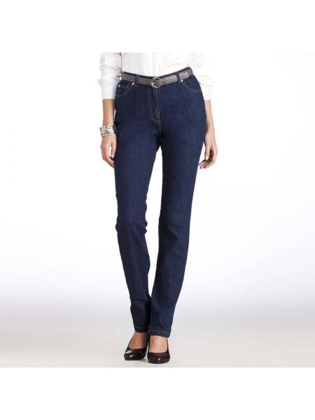 Прямые джинсы с поясом потертые Anne Weyburn