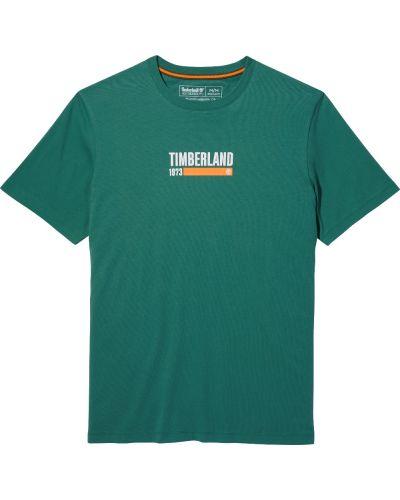 Базовая футболка - зеленая Timberland