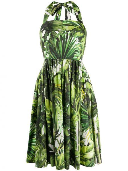 Платье зеленый приталенное Dolce & Gabbana