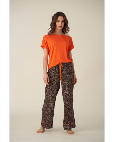Piżama z wiskozy - pomarańczowa Unico