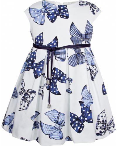 Хлопковое платье - белое Elsy