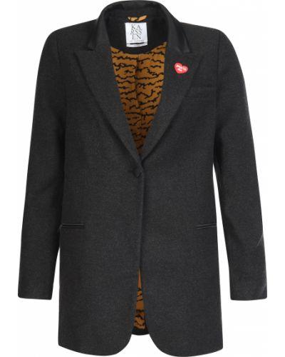 Пиджак шерстяной серый Zoe Karssen