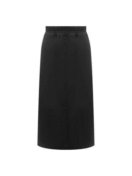 Кожаная юбка с подкладкой Escada