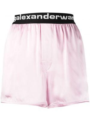 Różowe szorty z jedwabiu Alexander Wang